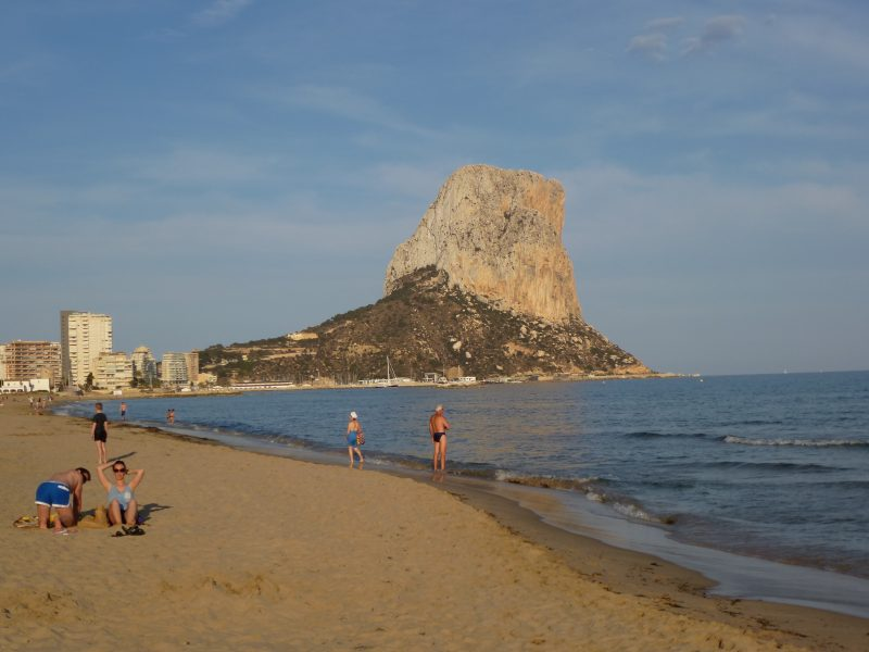 playa arenal en calpe