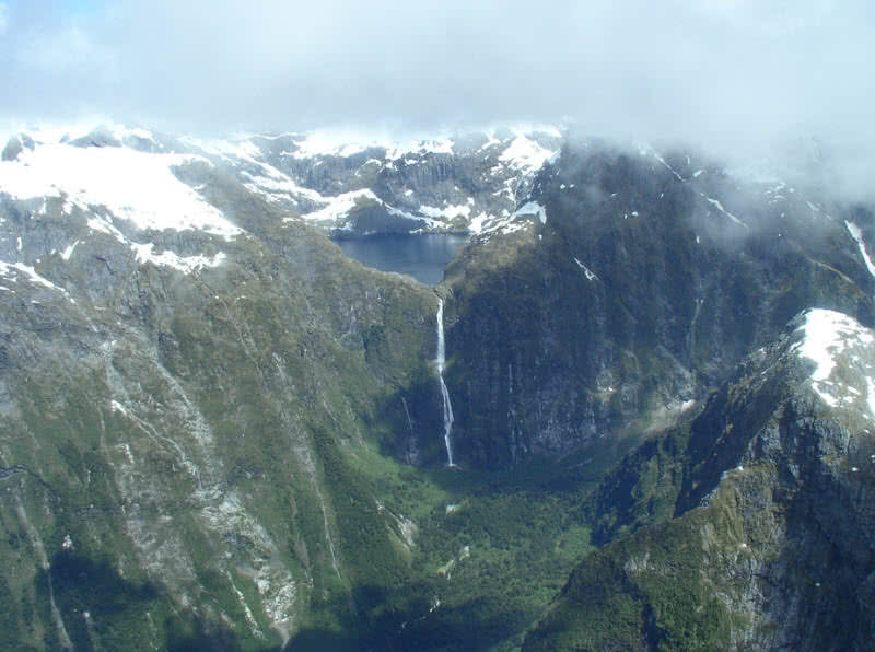 Sutherland falls, Nueva Zelanda
