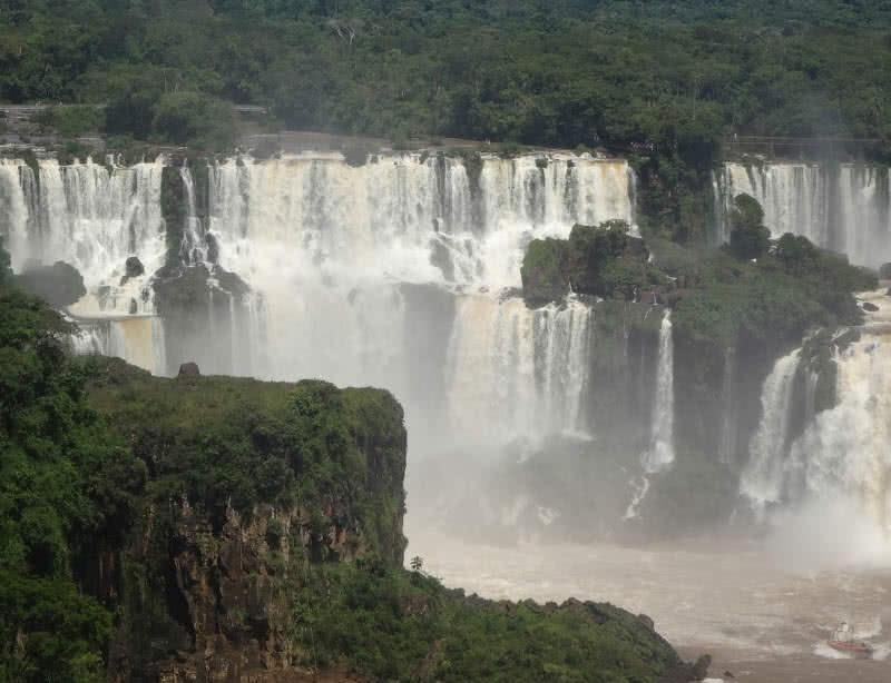 Cataratas del Iguazú, frontera Argentina-Brasil