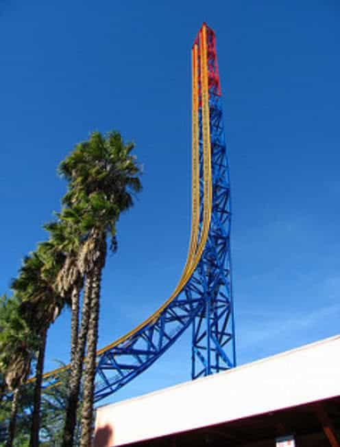 superman escape krypton montaña rusa