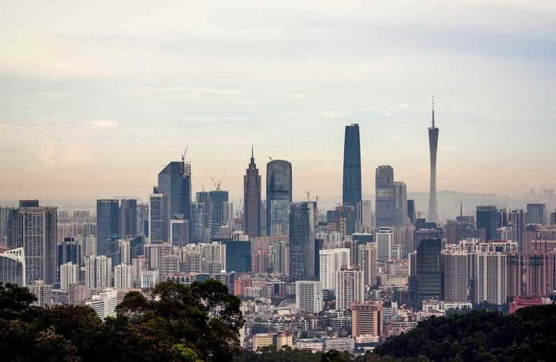 Horizonte de Guangzhou