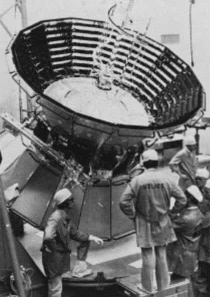 Bata espacial Helios 2 de la NASA